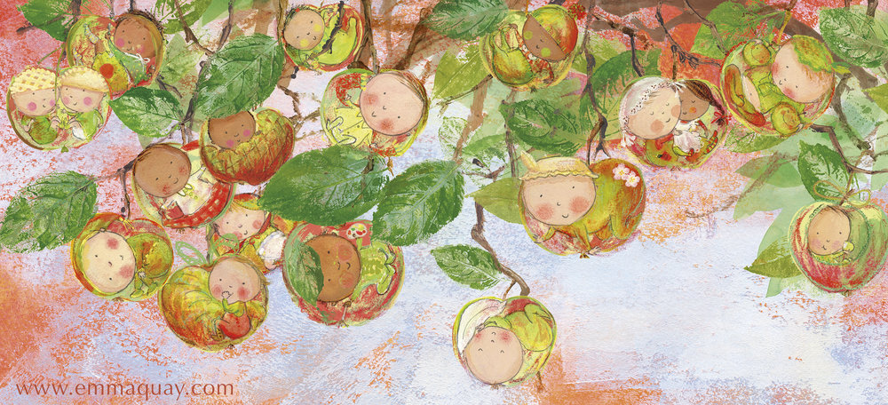 """""""If babies were apples…"""" illustration by Emma Quay from MY SUNBEAM BABY (ABC Books) - www.emmaquay.com"""