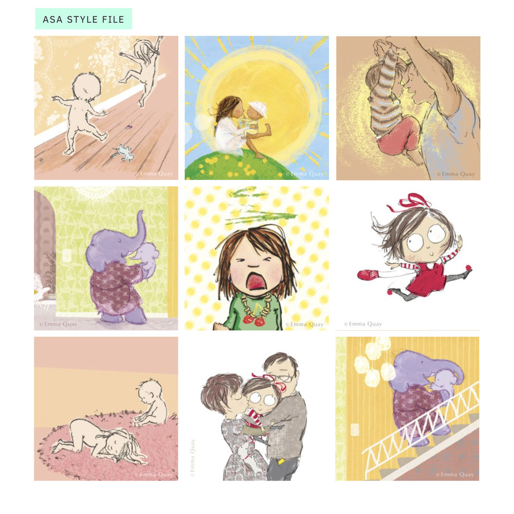 The new  ASA Style File  is now live — you can browse the work of many Australian illustrators in this online portfolio