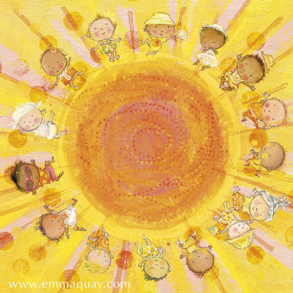 'If babies were sunbeams' illustration by Emma Quay from MY SUNBEAM BABY (ABC Books) - www.emmaquay.com