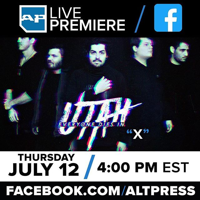 Tomorrow!  Head over to @altpress facebook for the premier of our new music video for our single X. . . #concerts #rock #metal #tattoos #blackink #alternative #bands #band #metal #musicbusiness #musicindustry #whosplayingnow #music #musicians #tour #newmusic #warpedtour #altpress #alternativepress