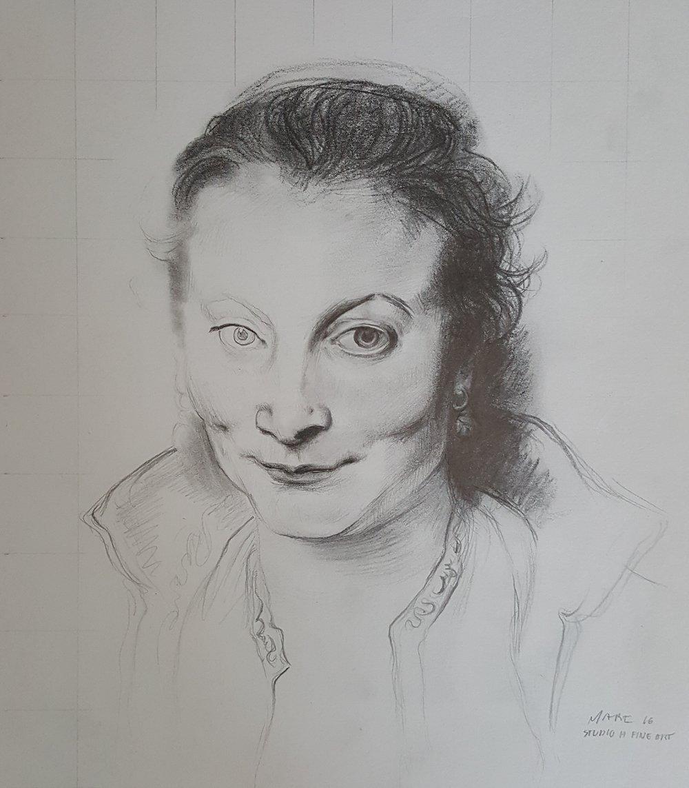 "Rubens' ""Drawing of Isabella Brant"" (Master Study)"