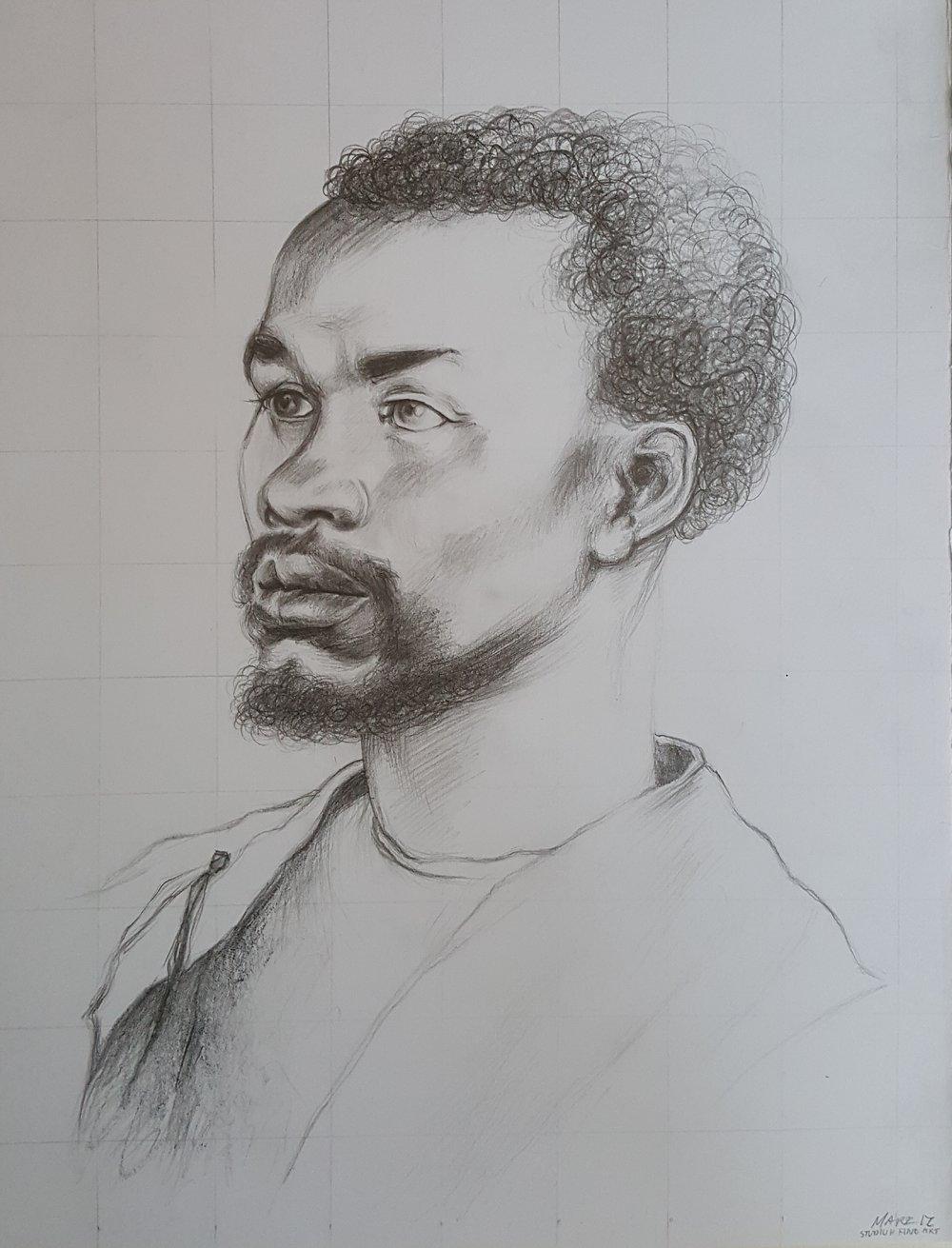 "Copy of Dürer's ""Head of a Negro"" (Master Study)"