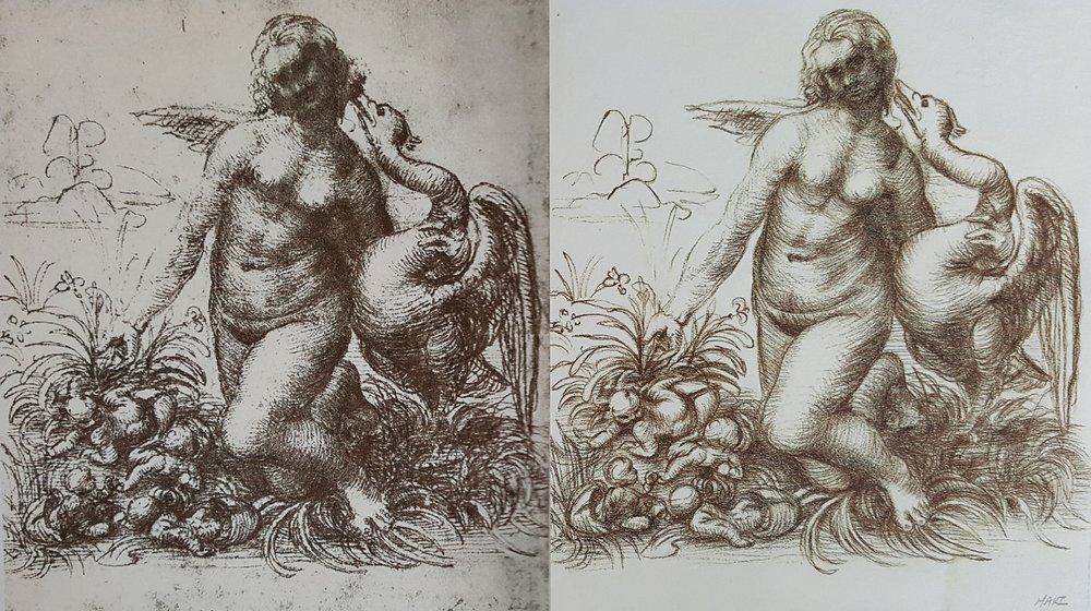 "Copy of da Vinci's ""Leda and the Swan"" (Master Study)"