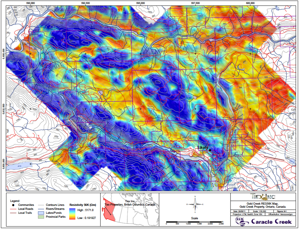Figure: July 2011 Resistivity Map - TIEX
