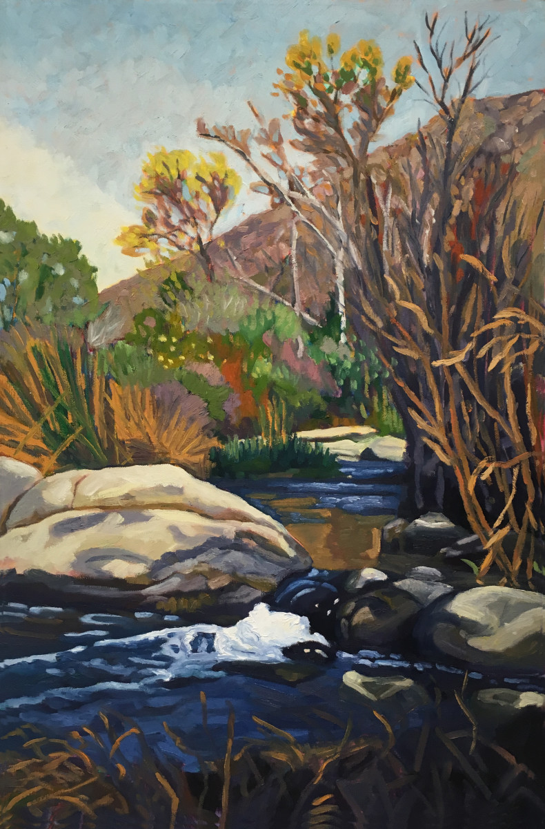 Stream, Mission Trails  30x20  Oil on Canvas  2001