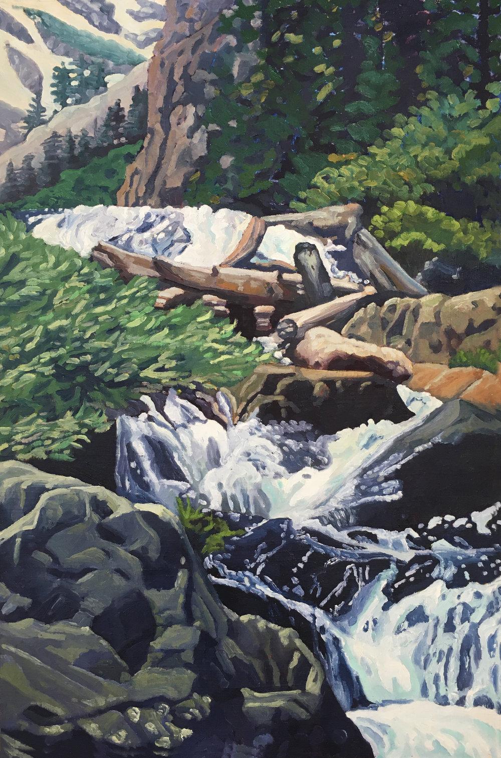 Sierra Stream  36x24  Oil on Panel