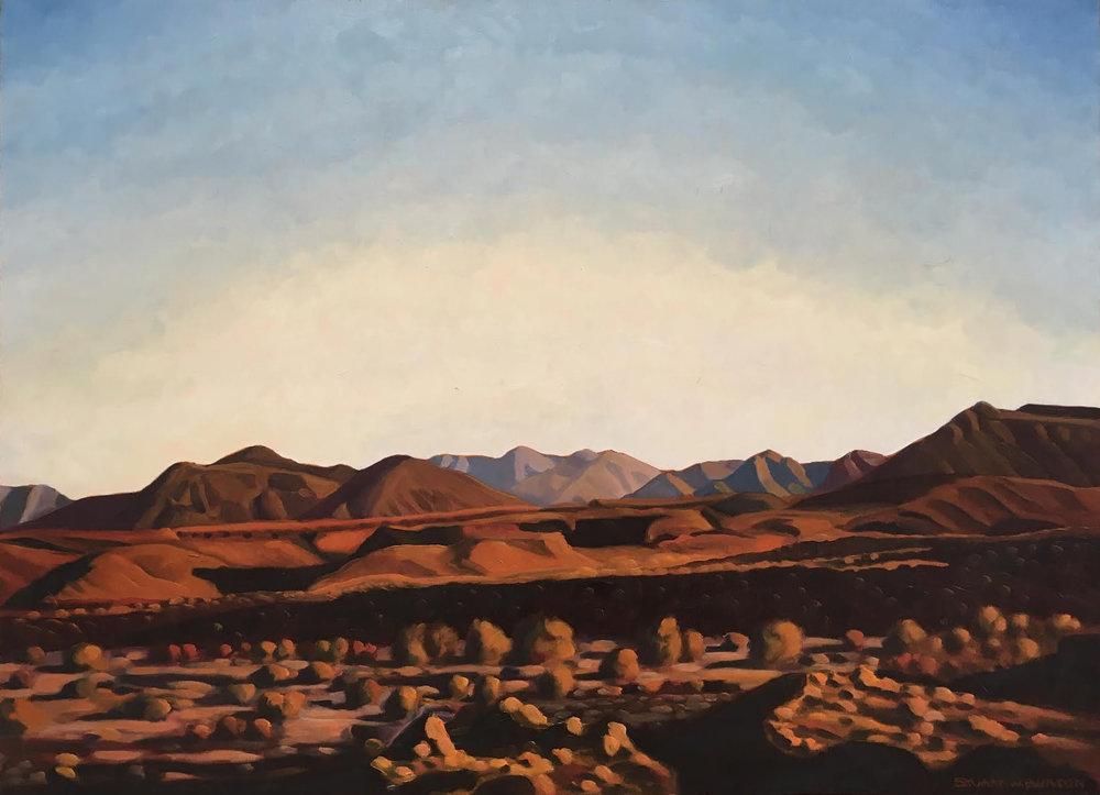 Desert Evening  22x30  Oil on Canvas  1998