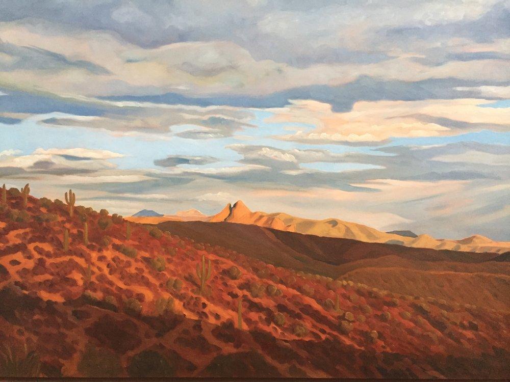 Hillside Shadow  36x48  Oil on Canvas  1998