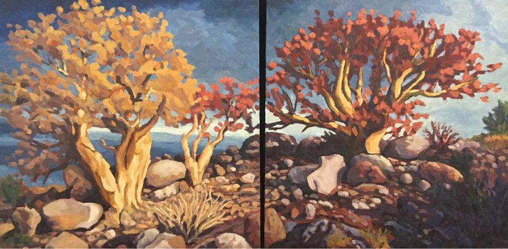 La Familia  24x48  Oil on Canvas  2002