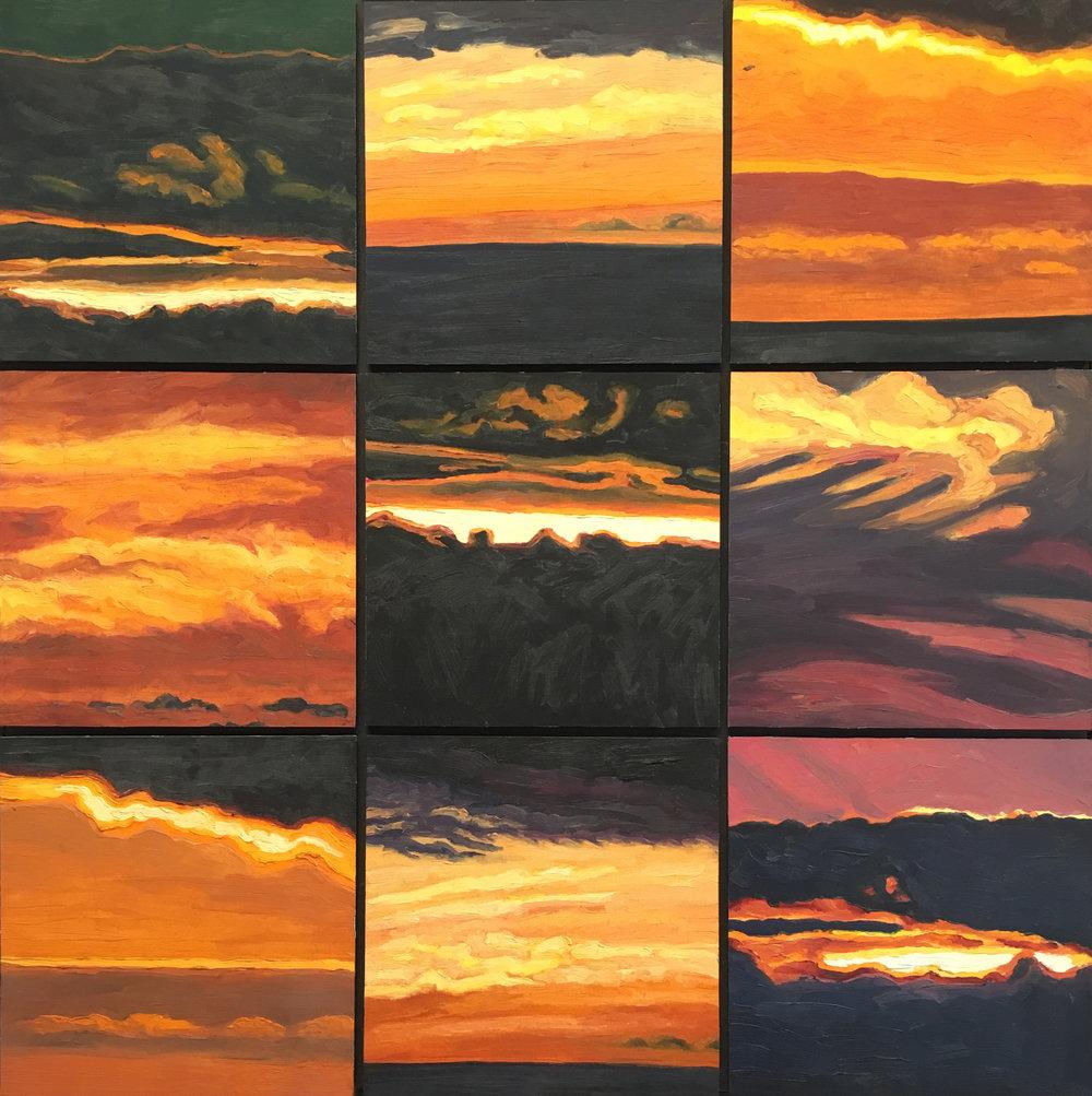 Nine  32x32  Oil on Panel  2006