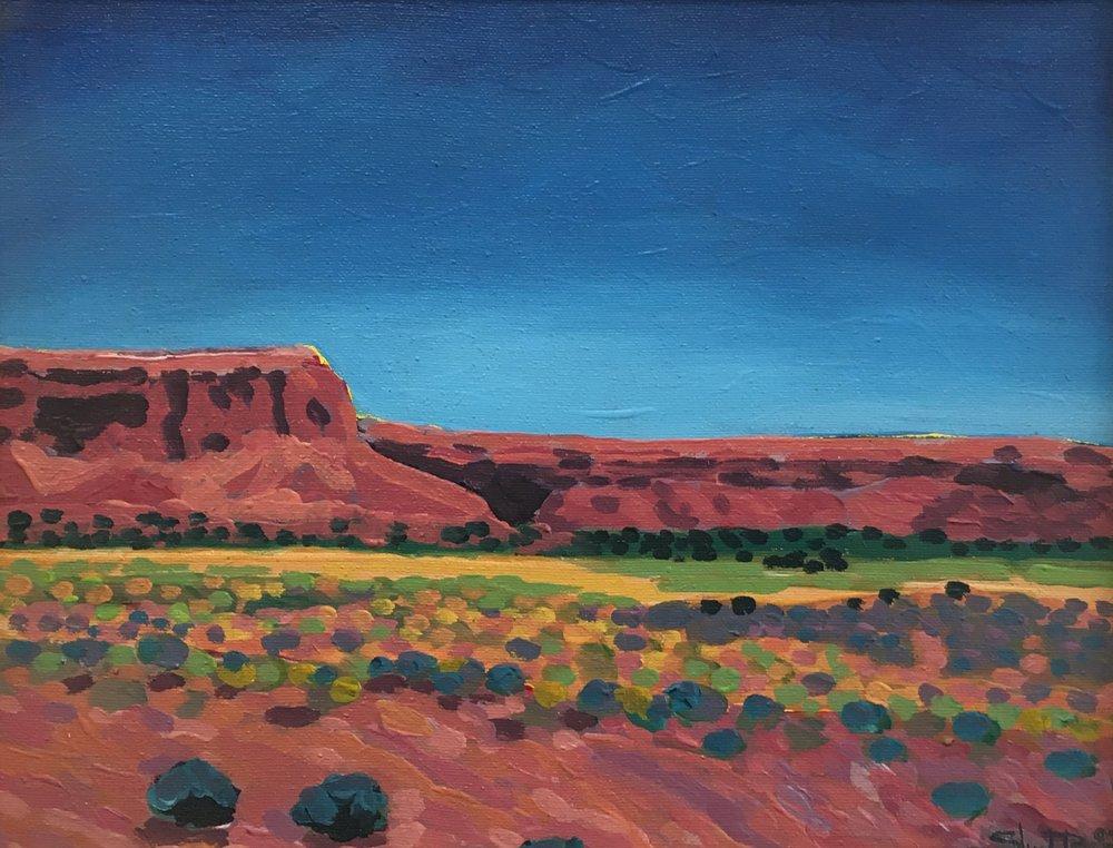 UNO  11x14  Acrylic on Canvas  2001