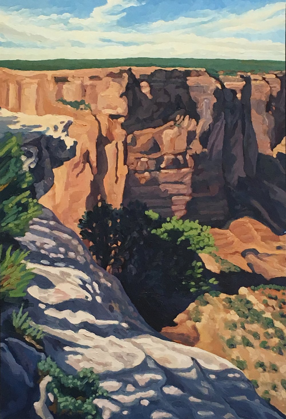 White Rock, Canyon De Chelly     30x20     Oil on Panel    2002