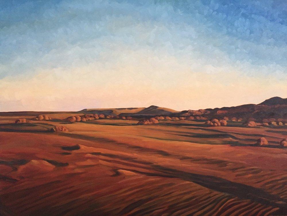 Sunrise Shadows  36x48  Oil on Canvas  1998