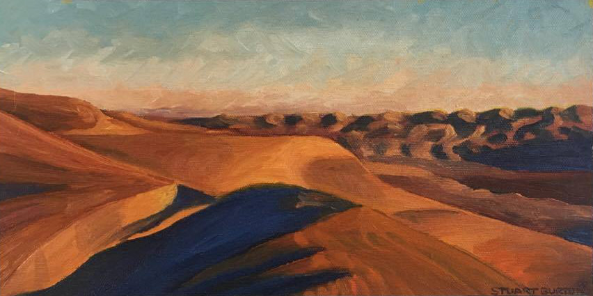 Butter Cup Dunes      6x12      Oil on Panel        2000