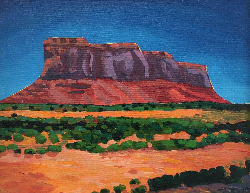 Valle Verde  11x14  Acrylic on Canvas  1993