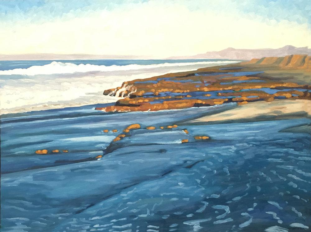 Blue Foam  30x40  Oil on Canvas  2002