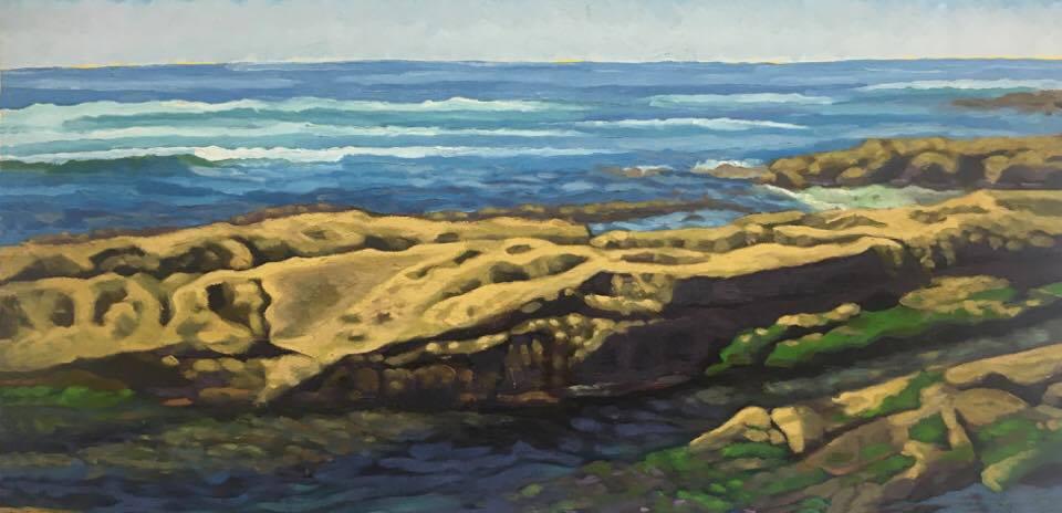 Low Tide Wind & Sea  12x24  Oil on Panel  2007