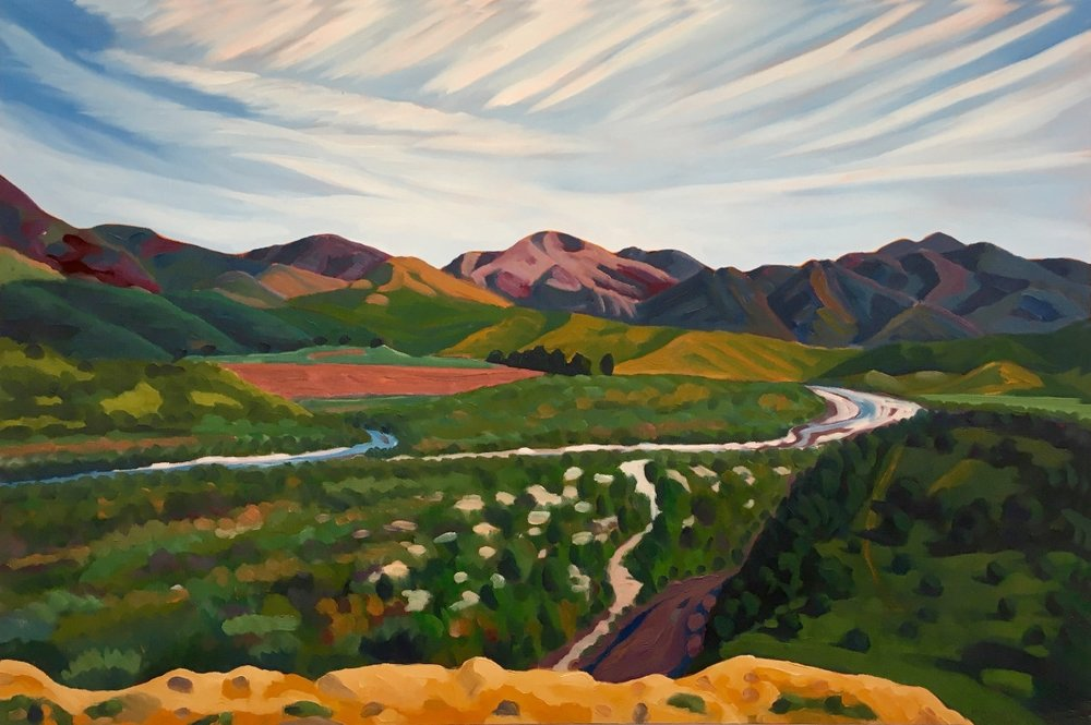 Green Valley Urpan (Baja California) 24x36  Oil on Canvas  1996
