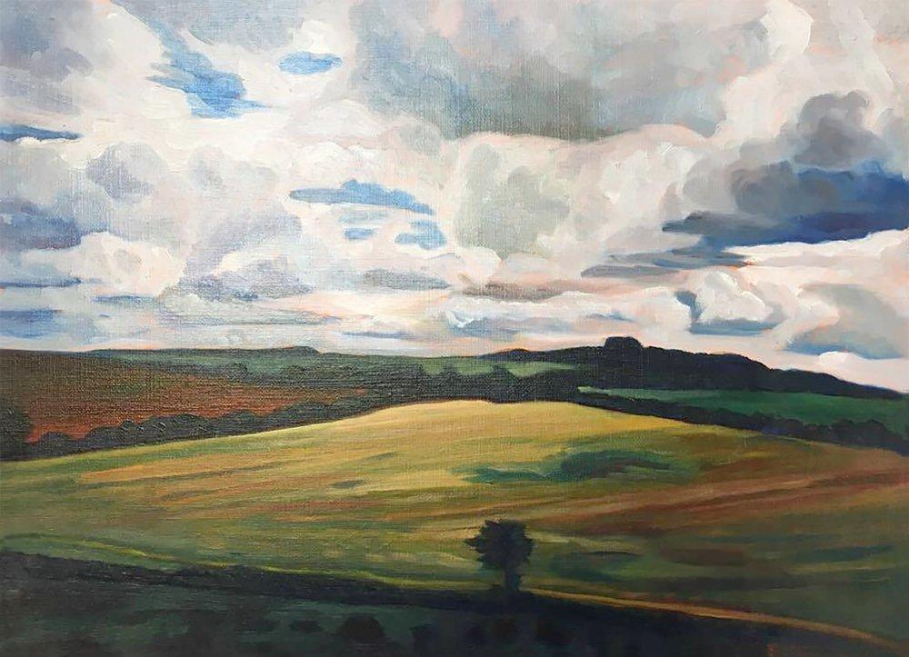 Tree Study, France  12x16  Oil on Canvas  1993