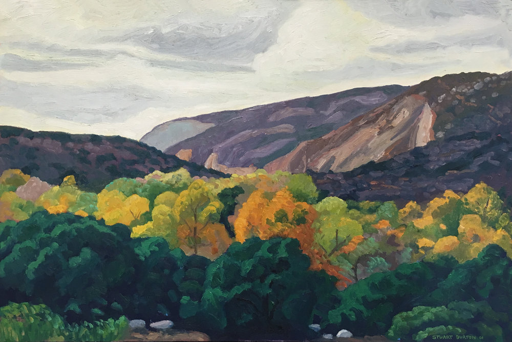 Fall Colors, Mission Trails  20x30  Oil on Canvas  2003