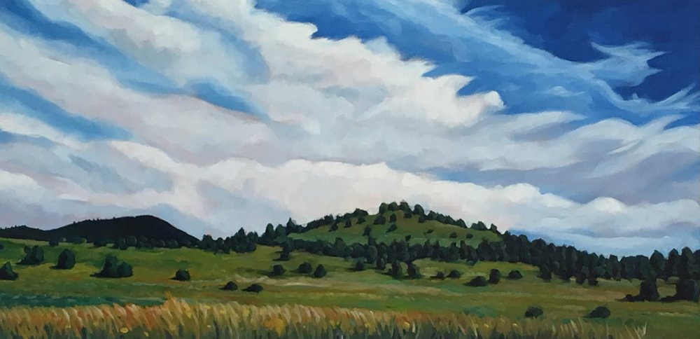Between Rains  18x36  Oil on Canvas