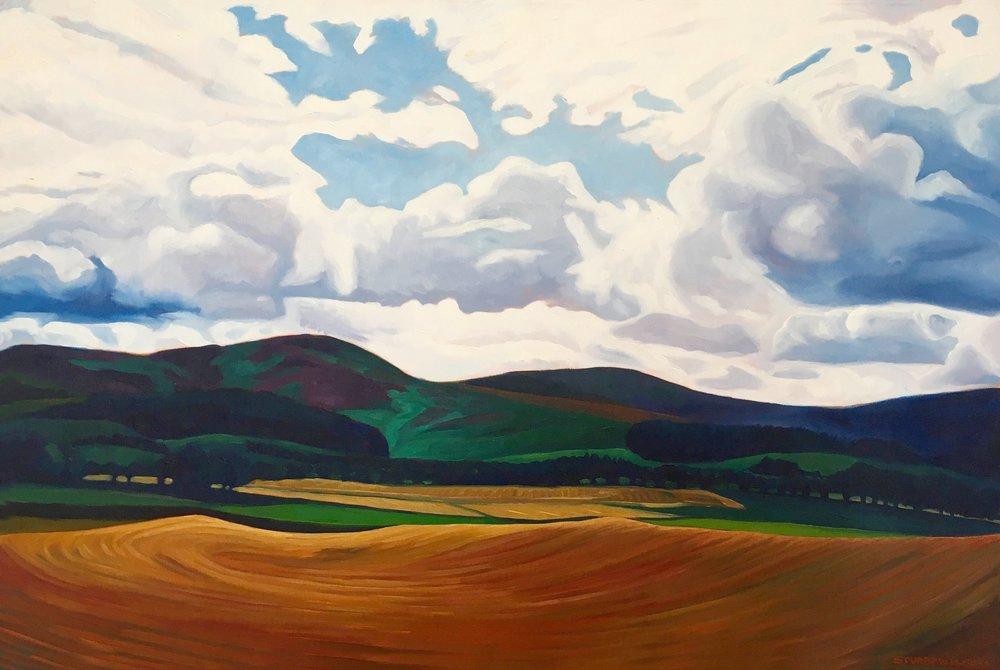 Orange Field  24x36  Oil on Canvas  1994