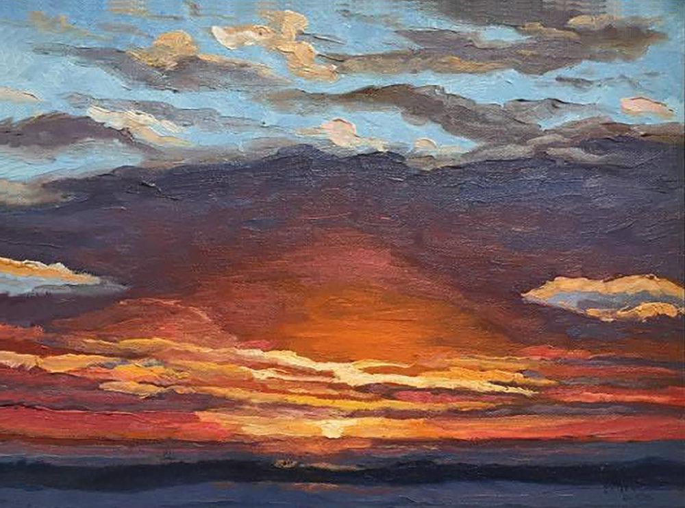 Baja Sky Study II  9x12  Oil on Canvas  2004