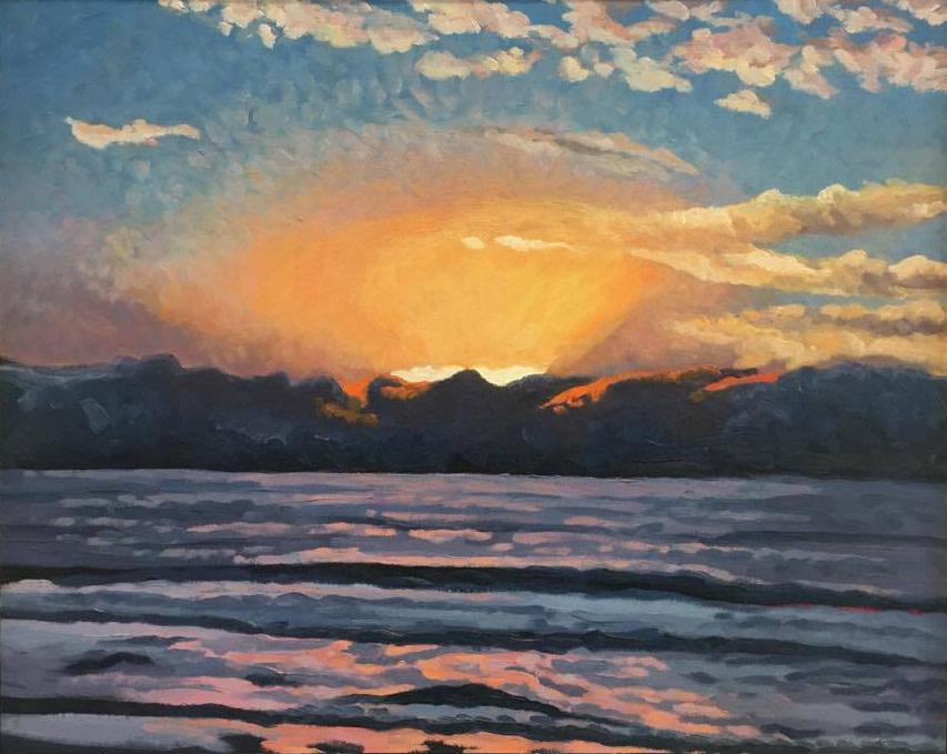 Sunset Glow  16x20  Oil on Panel  2005