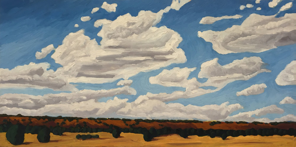 Road to Santa Fe      18x36      Oil on Canvas       2005