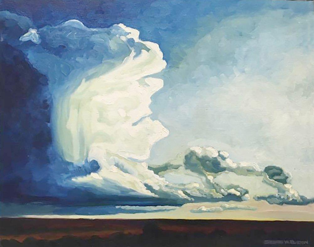 Fall Thunderhead  16x20  Oil on Canvas
