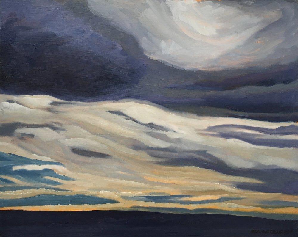 Dark Sky  16x20  Oil on Canvas  1994