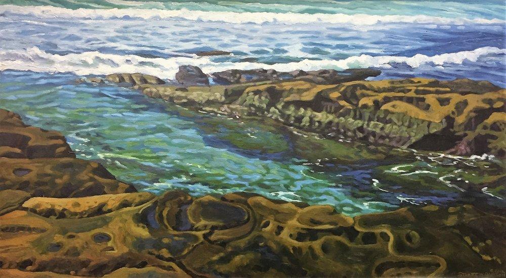 La Jolla Low Tide  20x36  Oil on Canvas  2012