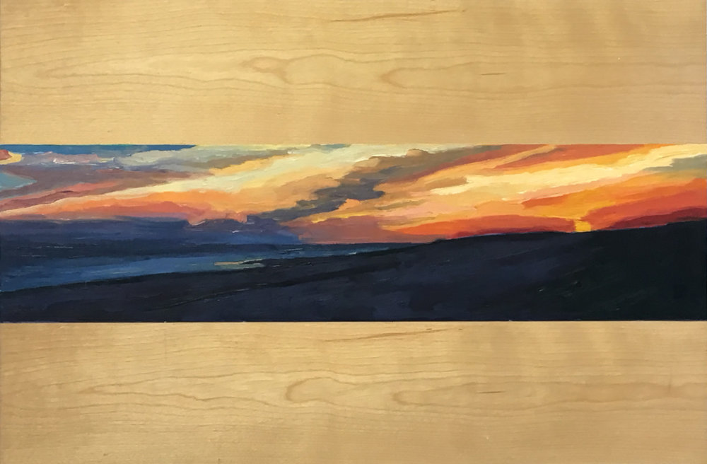 Sunset, El Golfo        9x36       Oil on Canvas           2000