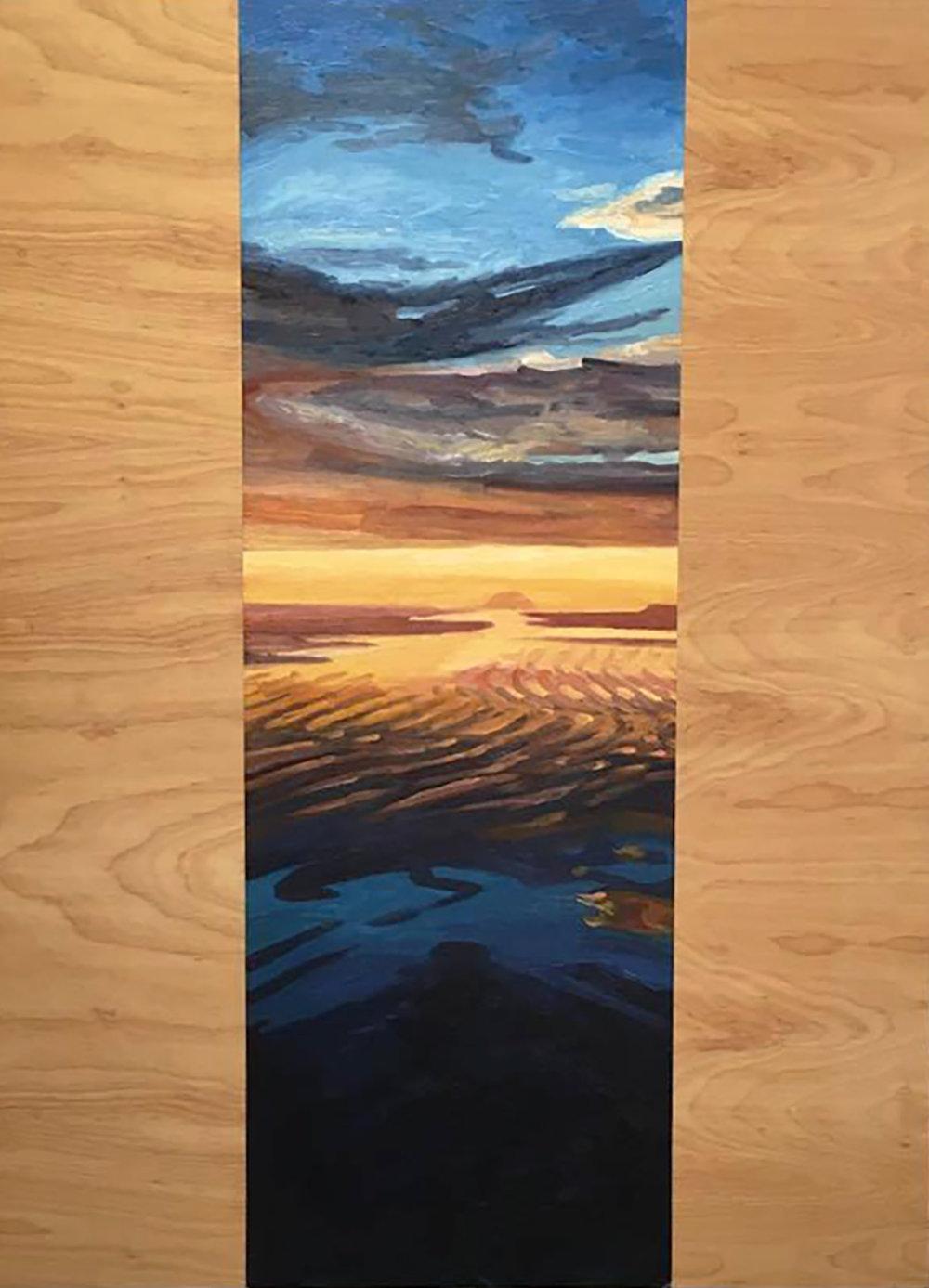 Golden Sunset  60x20  Oil on Canvas  2000