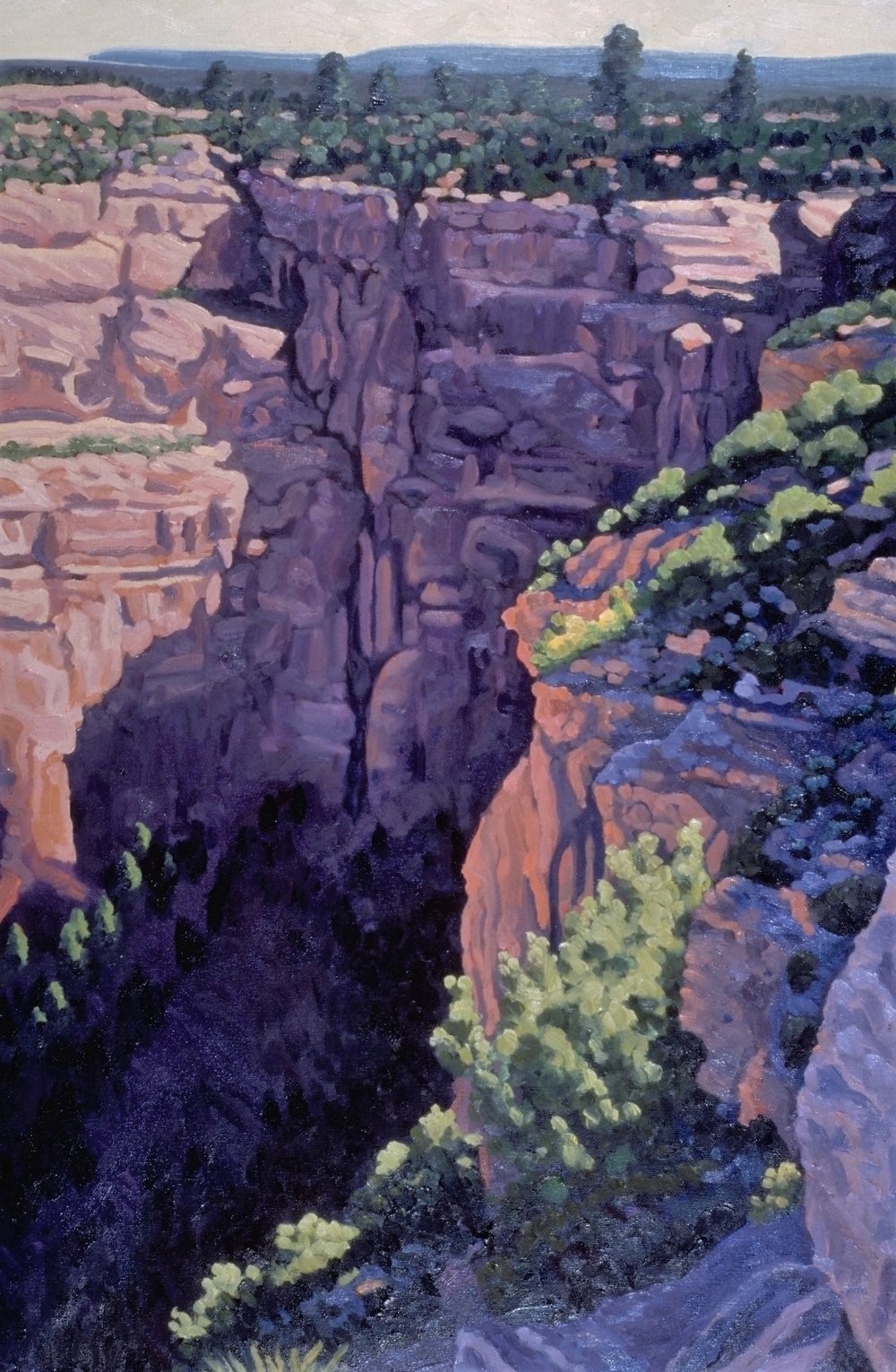 Afternoon Glow, Canyon de Chelley       30x20      Oil on Panel       2002