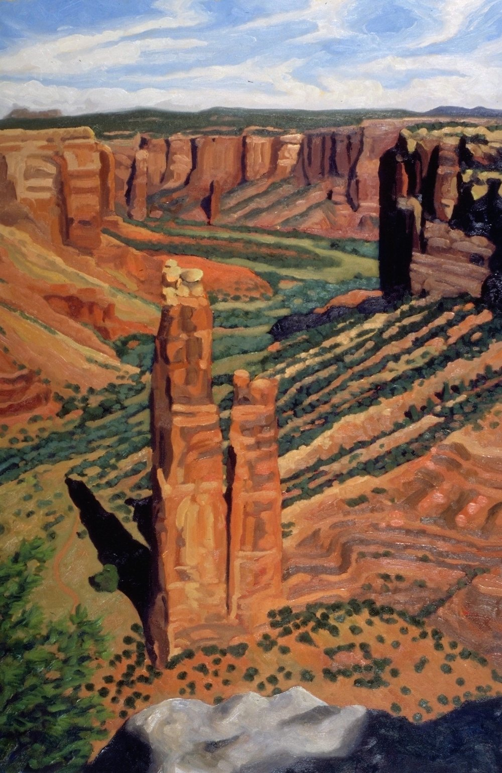 Spider Rock, Canyon de Chelley  30x20     Oil on Panel      2002
