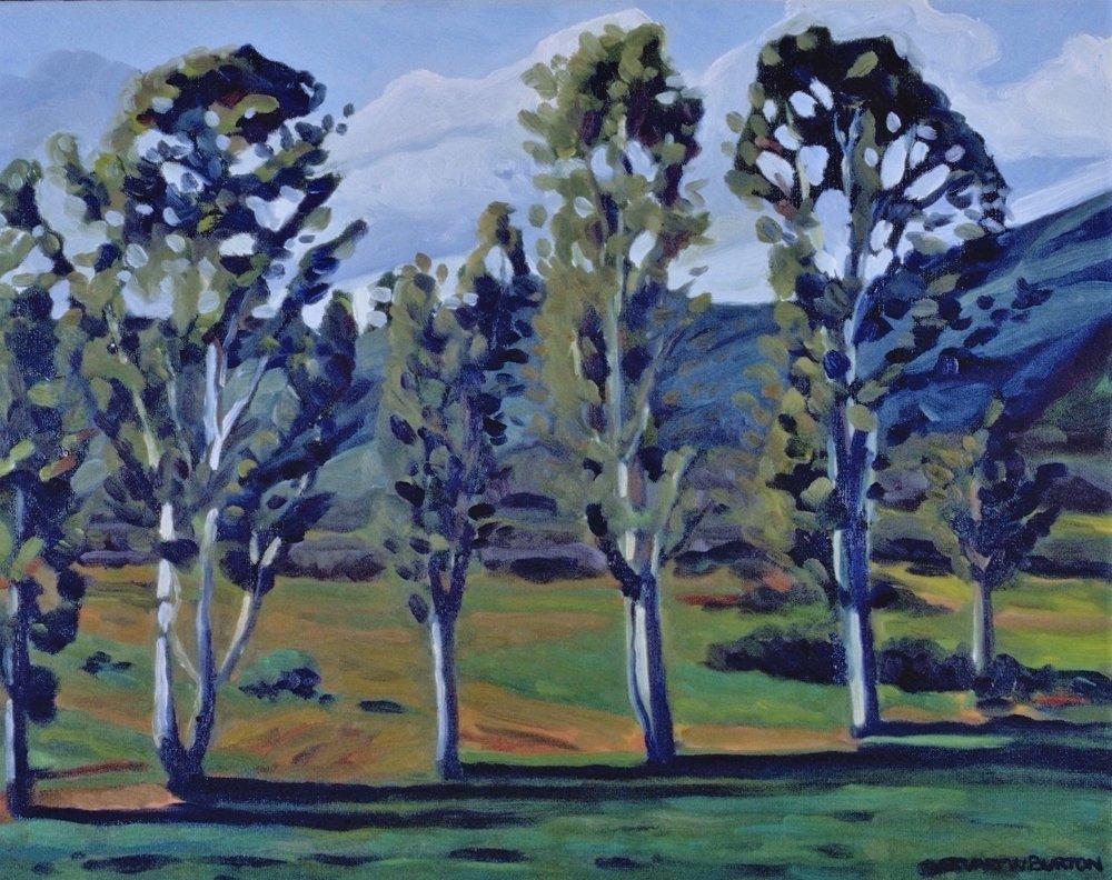Tree Line  16x20  Oil on Canvas  1998
