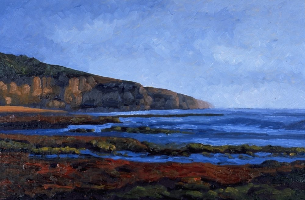 Red Rocks Low Tide, Sunset Cliffs    16x24    Oil on Panel     2000