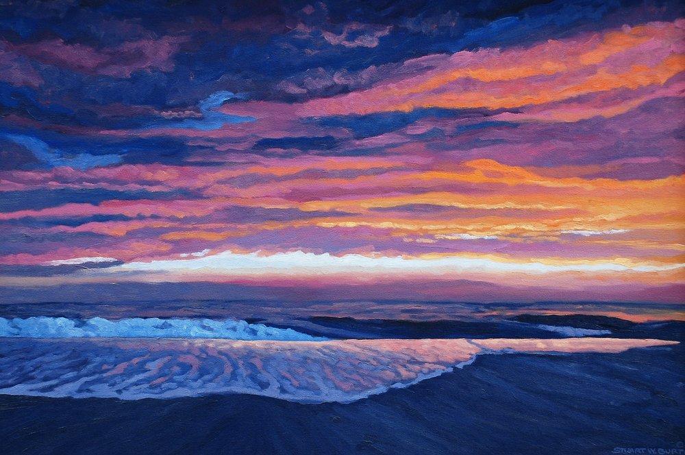 Pink Sunset  16x24  Oil on Panel  2005