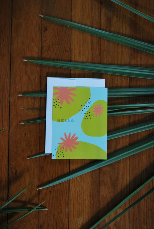 Greeting cards addie nicole hello greeting card 425x55 glossy paper with white envelope m4hsunfo