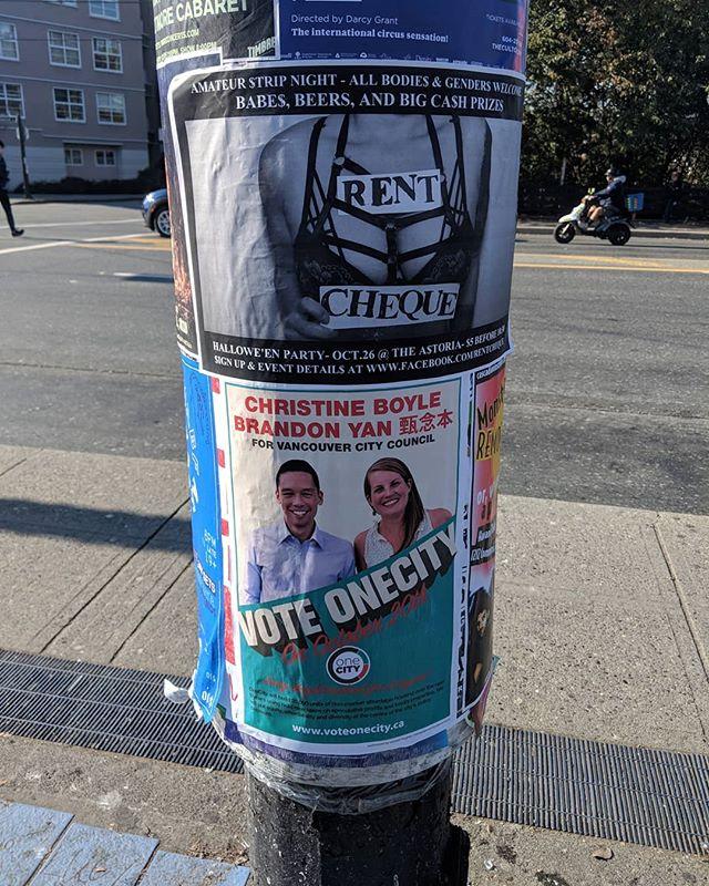 Strategic placement under Rent Cheque #VoteOneCity #Vancouver #vanpoli