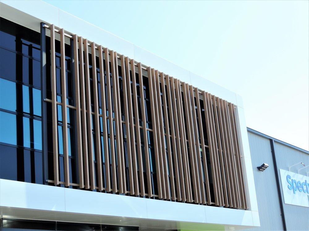 Spectrum Brands Asia-Pacific Headquarters - Mentone VIC Ever Art Wood® battens - Mizotsuki 50x100 in Kuri Masame