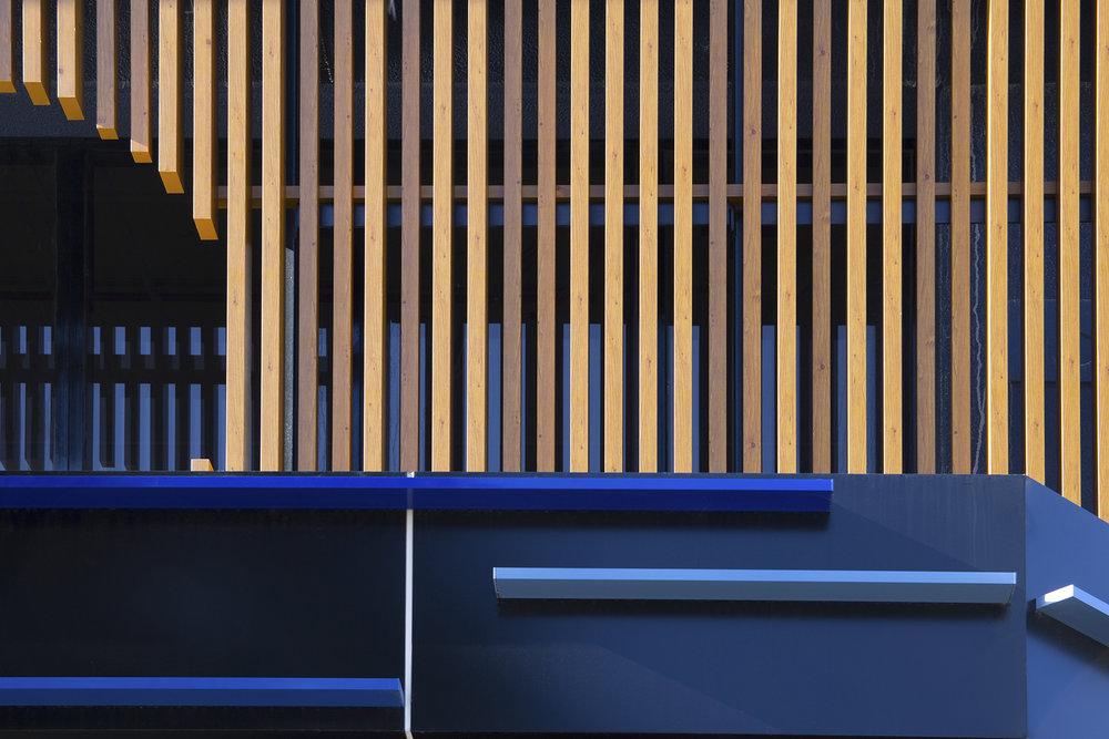 83 Moorabool St - Geelong, VIC Ever Art Wood® battens -  Mizotsuki 50x50 & 50x100 in Pain & Kabebari 30x50 custom painted