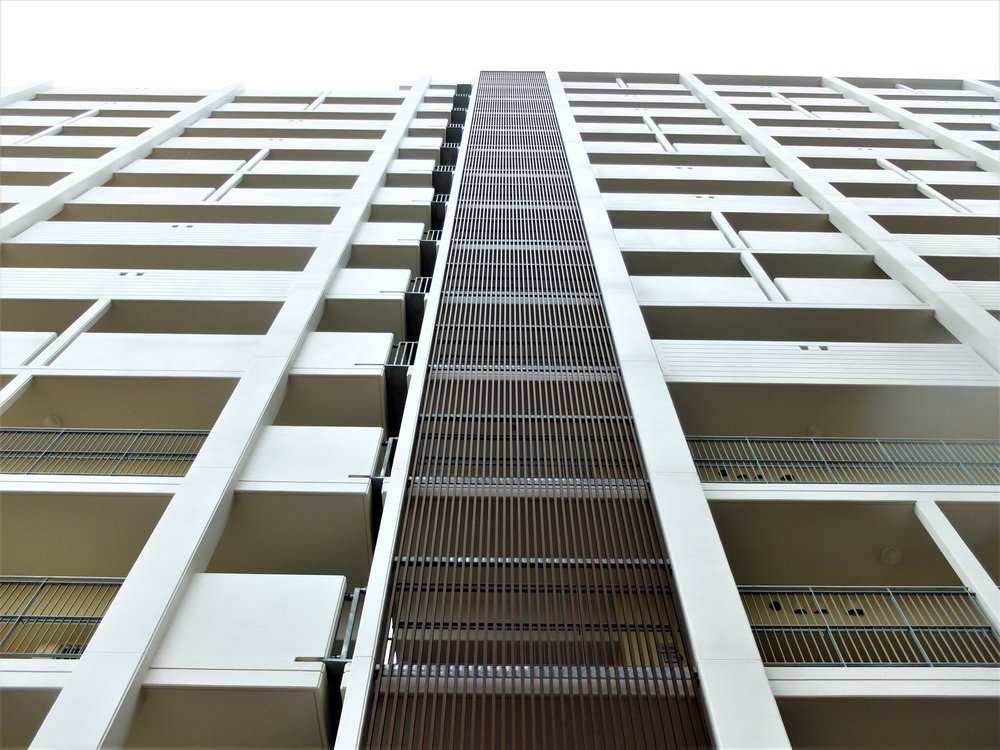 Multi-residential Apartment Complex - Japan Ever Art Wood® battens - Mizotsuki bolt fix cladding