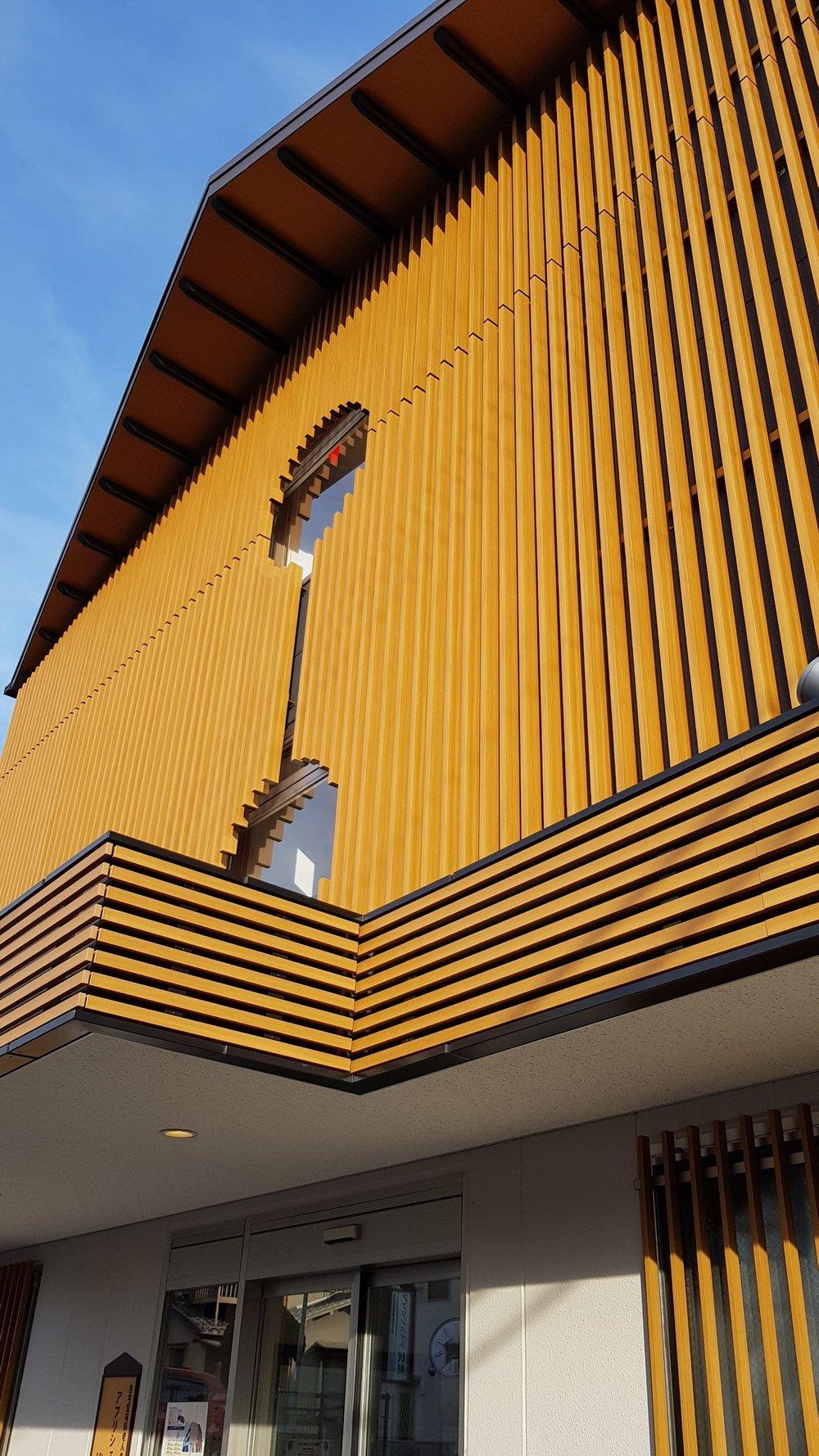Commerical/Retail Complex - Japan Ever Art Wood® battens - Mizotsuki bolt fix cladding