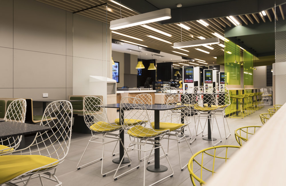 McDonald's - Emerald Hills VIC Ever Art Wood® battens - Kabebari 30x50 & 30x85 in Kuri Masame