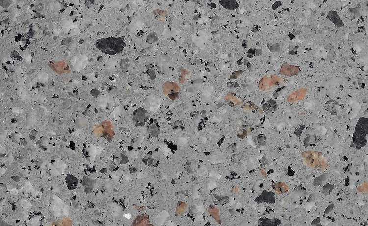 Concrete 6mm Harcourt Granite, Sienna Granite & Black Granite