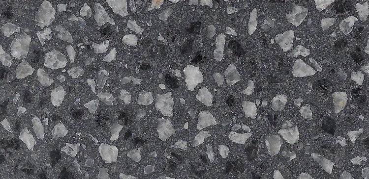Jet Black 6mm Super Off White Marble & Black Granite