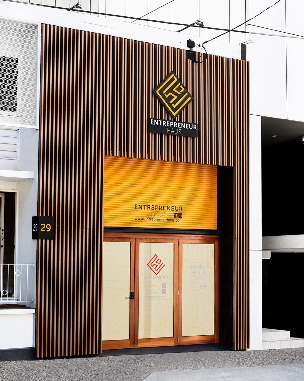 Entrepreneur House shared workspace - South Brisbane QLD Ever Art Wood® Kabebari 30x50 & 30x85