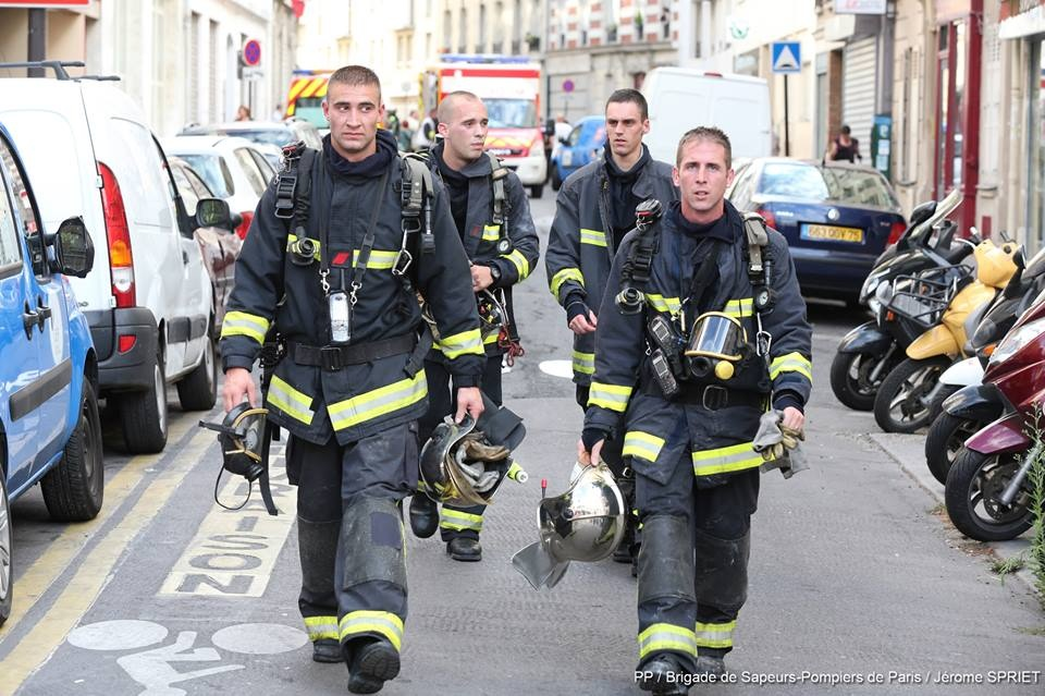 BSPP: firefighters in Paris.